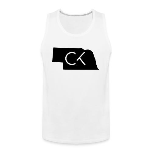 State of Nebraska Conor Keating Logo (White) - Men's Premium Tank