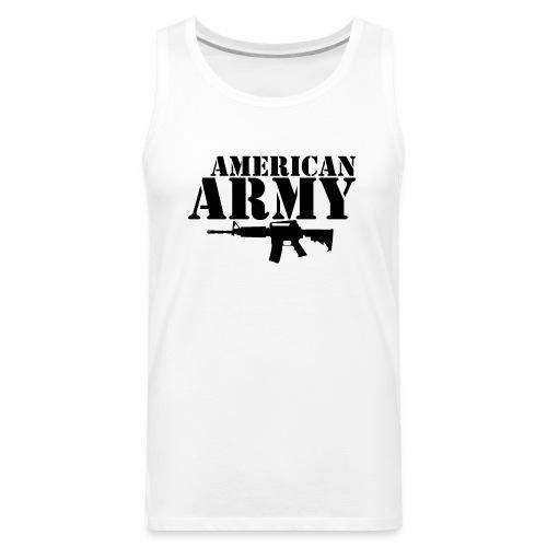 AMERICAN ARMY BLACK - Men's Premium Tank