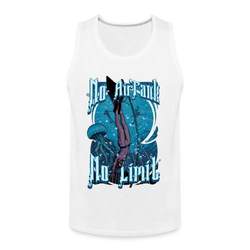 No Air Tank No Limit Freediving merchandise - Men's Premium Tank
