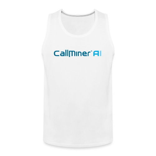 CallMiner AI - Blue on Light Swag - Men's Premium Tank