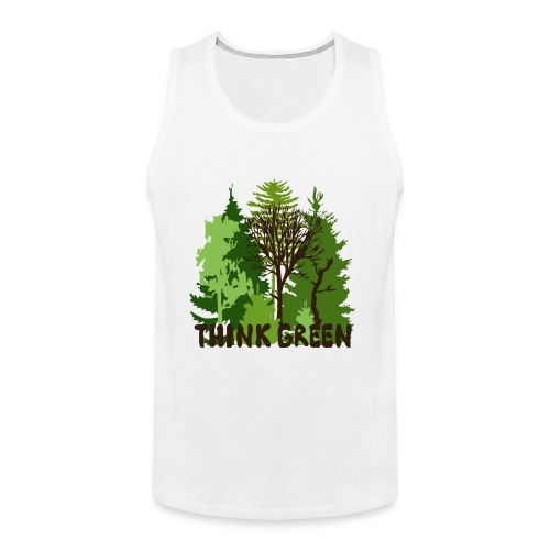 EARTHDAYCONTEST Earth Day Think Green forest trees - Men's Premium Tank