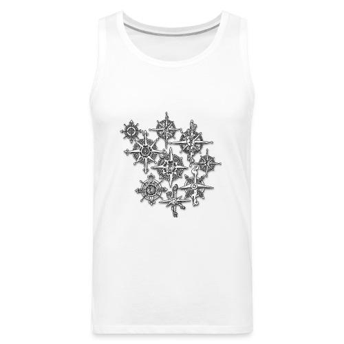 Neo-Henna Snowflakes - Men's Premium Tank