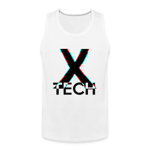 X-Tech Logo - Black - Men's Premium Tank