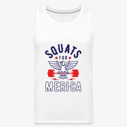 Squats For Merica v2 - Men's Premium Tank