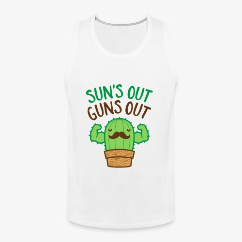 Sun's Out Guns Out Macho Cactus - Men's Premium Tank