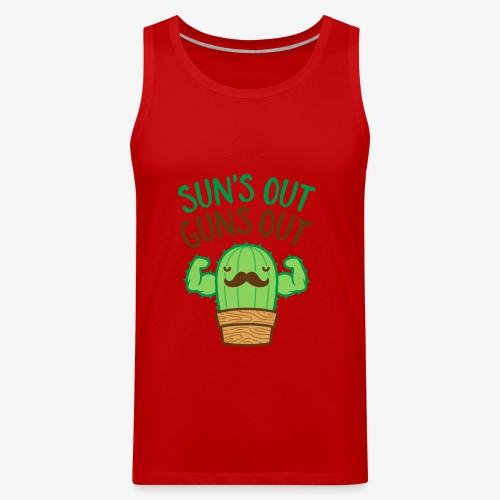 Sun's Out Guns Out Macho Cactus - Men's Premium Tank