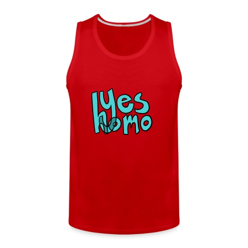 Yes Homo (Solid) - Men's Premium Tank