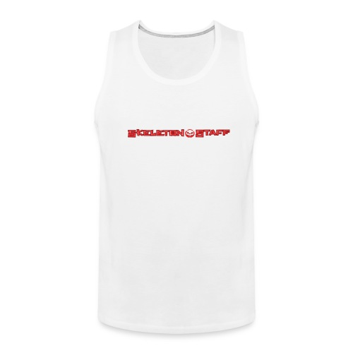 SKELETON STAFF WHITE SHIRT - Men's Premium Tank