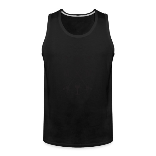 Mom Loves Wine (black ink) - Men's Premium Tank