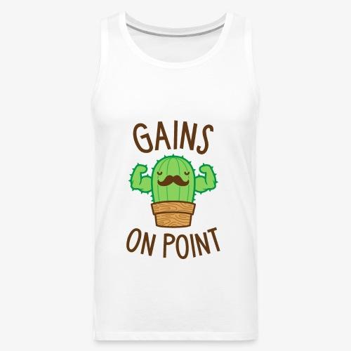 Gains On Point (Cactus Pun) - Men's Premium Tank
