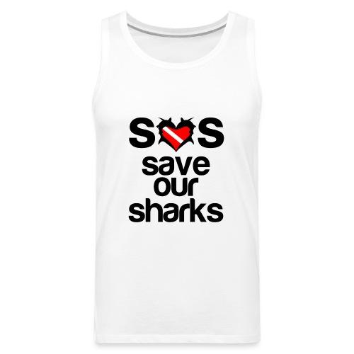 Save Our Sharks T-Shirt - Men's Premium Tank