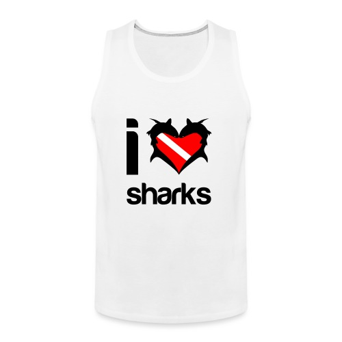 I Love Sharks - Men's Premium Tank
