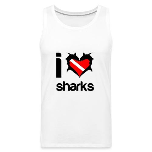 I Love Sharks - Men's Premium Tank
