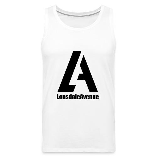 Lonsdale Avenue Logo Black Text - Men's Premium Tank