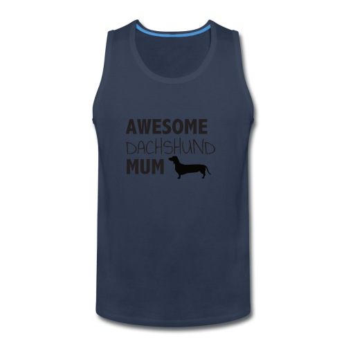 Awesome Dachshund Mum - Men's Premium Tank