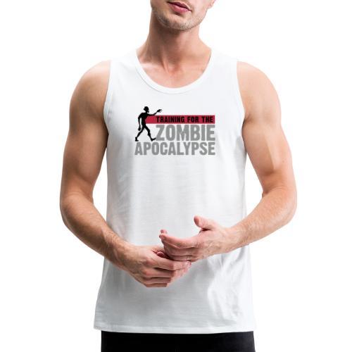 Zombie Apocalypse Gym Motivation - Men's Premium Tank