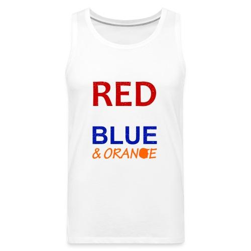 Red White Blue and Orange - Men's Premium Tank