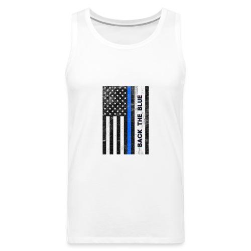 BACK THE Blue Police Officer USA - Men's Premium Tank