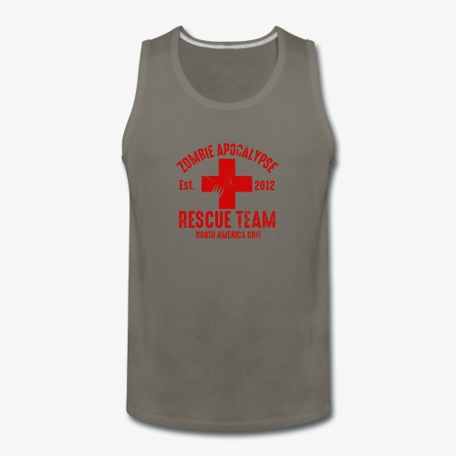 Zombie Rescue Halloween Shirt - Men's Premium Tank