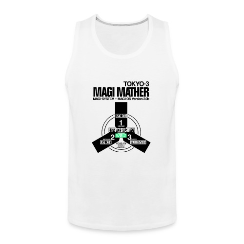 MAGI MATHER (WHITE) - Men's Premium Tank
