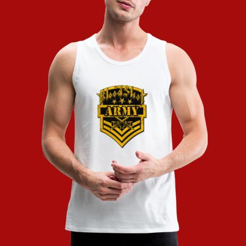 BloodShot ARMYLogo Gold /Black - Men's Premium Tank
