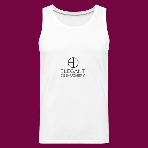 Elegant Debauchery Logo Stacked - Men's Premium Tank