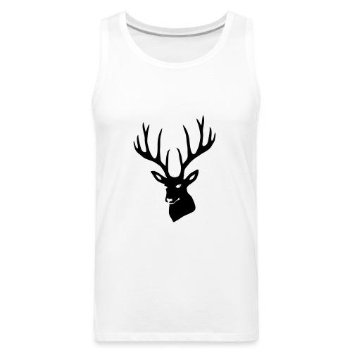 stag night deer buck antler hart cervine elk - Men's Premium Tank