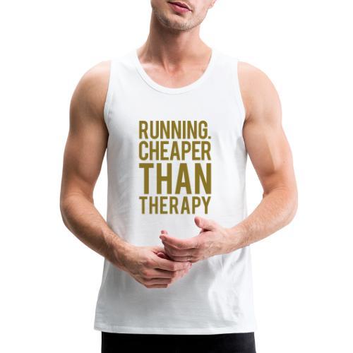 Running cheaper than therapy - Men's Premium Tank