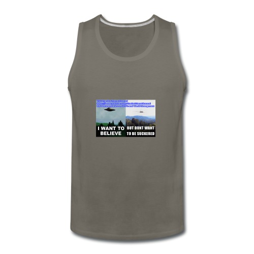 tshirt i want to believe - Men's Premium Tank