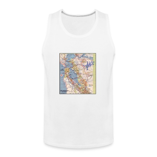 Phillips 66 Zodiac Killer Map June 26 - Men's Premium Tank