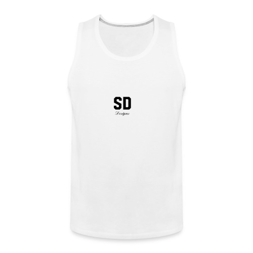 SD Designs blue, white, red/black merch - Men's Premium Tank