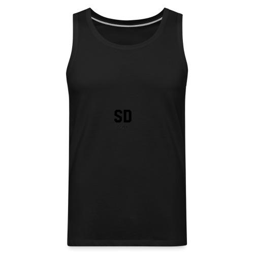 SD Designs blue, white, red/black merch - Men's Premium Tank