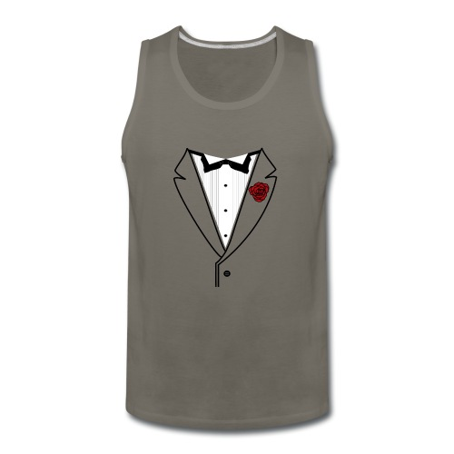Tuxedo w/Black Lined Lapel - Men's Premium Tank