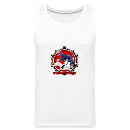 Judo Shirt Jiu Jitsu Shirt Throw Tomoe Nage - Men's Premium Tank