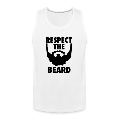 Respect the beard 05 - Men's Premium Tank