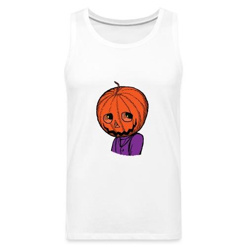 Pumpkin Head Halloween - Men's Premium Tank
