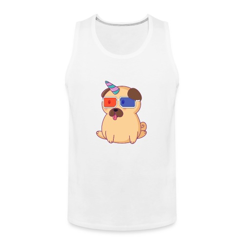 Dog with 3D glasses doing Vision Therapy! - Men's Premium Tank