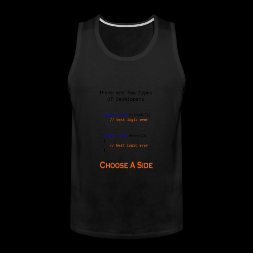 Code Styling Preference Shirt - Men's Premium Tank