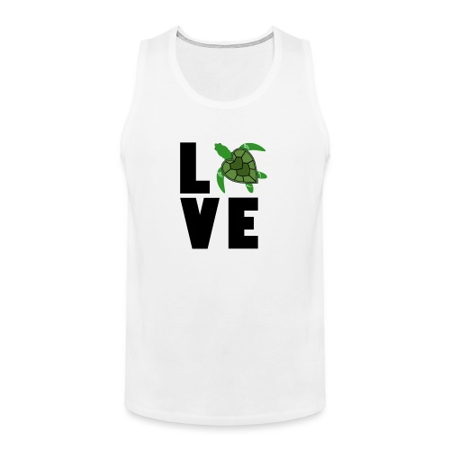 I Love Turtles - Men's Premium Tank
