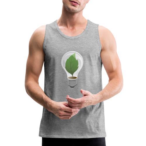 Clean Energy Green Leaf Illustration - Men's Premium Tank