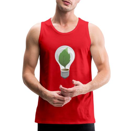 Clean Energy Green Leaf Illustration - Men's Premium Tank