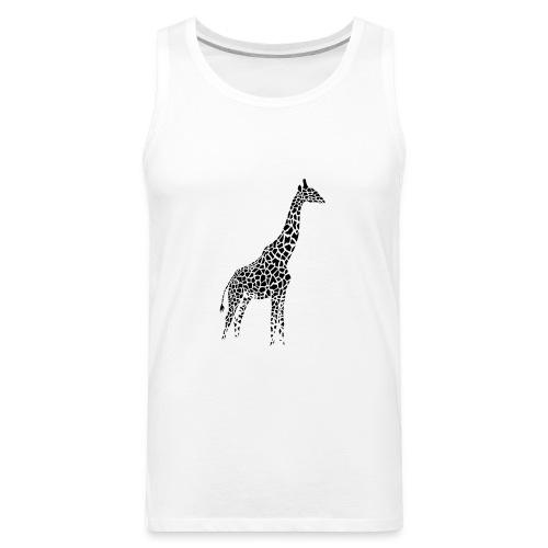 giraffe afrika serengeti camelopard safari zoo - Men's Premium Tank
