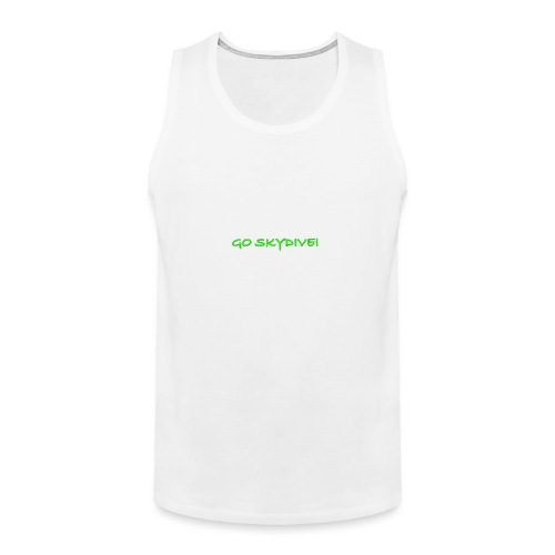 Go Skydive T-shirt/Book Skydive - Men's Premium Tank