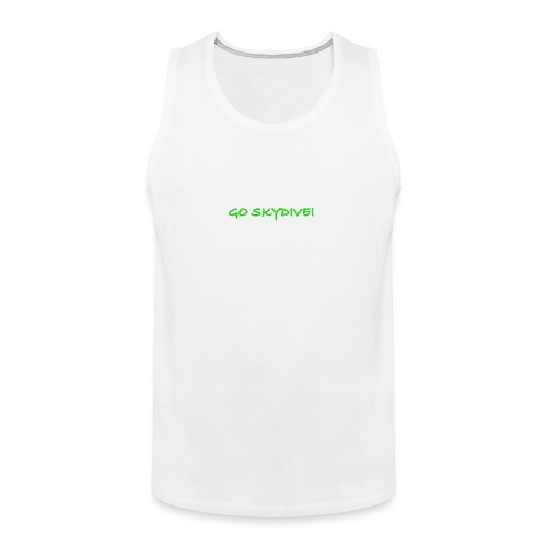 Go Skydive T-shirt/Book Skydive - Men's Premium Tank