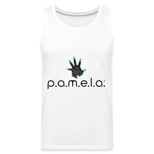 P.A.M.E.L.A. Logo Black - Men's Premium Tank