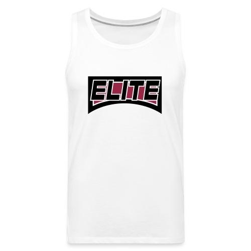 elite 4 inch crest logo file - Men's Premium Tank