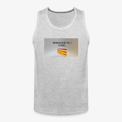 WHERE'S THE CAKE - Men's Premium Tank