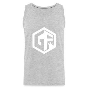 GF Logo Whitek - Men's Premium Tank
