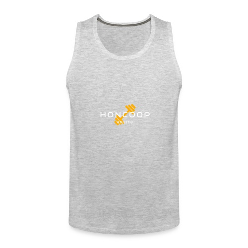 Honcoop Athletic White On Orange Logo - Men's Premium Tank