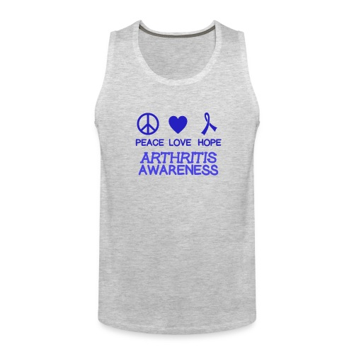 Arthritis awareness peace love hope - Men's Premium Tank